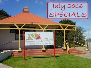 Frozen Foods Factory Shop Specials For July 2016