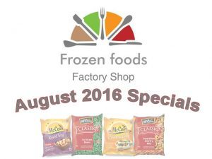 Factory Shop Specials on Frozen Food in George