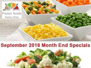 Month End Specials on Frozen Vegetables in George
