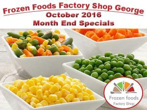 Frozen Foods Factory Shop in George October 2016 Specials