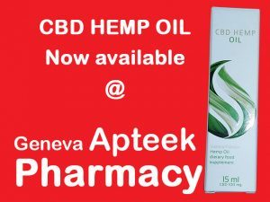 CBD Hemp Oil Available from Geneva Pharmacy in George