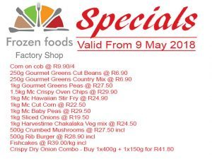 Special Prices on Frozen Vegetables in George