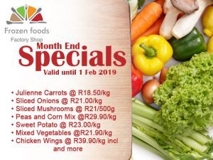 Frozen Foods January 2019 Month End Specials