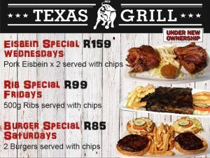 Specials at Texas Grill Restaurant in George